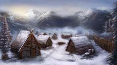 All information about Fantasy Village Mountain. Pictures of Fantasy Village Mountain and many more. Fantasy Village, Fantasy Town, Fantasy Forest, Fantasy Castle, High Fantasy, Fantasy Warrior, Medieval Fantasy, Village Map, Viking Village