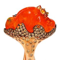 Fire Opal Ring | organic treasure by Alessio Boschi #organic #orange #finejewelry #ring #designerring #boschi