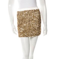 Alice + Olivia gold sequin skirt SZ 2 Gold and Ivory sequin skirt Alice + Olivia Skirts Mini
