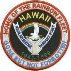 US NAVY BASE PATCH, BARBERS POINT NAS HAWAII, CLOSED *