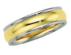14K Gold Two Tone Men's Wedding Band.    http://www.thediamondstore.com/products/men's-wedding-rings/14k-gold-two-tone-mens-wedding-band-%7C-5976/7-574