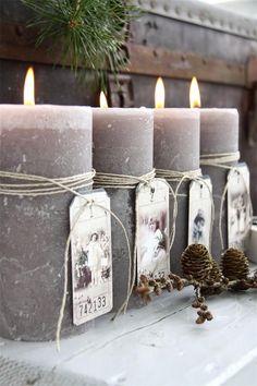 Depósito Santa Mariah: Ilumine Seu Natal Com Velas! Noel Christmas, Christmas Candles, Christmas Colors, Winter Christmas, Christmas Crafts, Christmas Decorations, Candle Lanterns, Diy Candles, Pillar Candles
