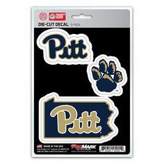 ee6f3ec71 Pittsburgh Panthers Decal Die Cut Team 3 Pack