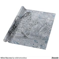 Sold. #Silver #star #wrappingpaper Available in different products. Check more at www.zazzle.com/celebrationideas