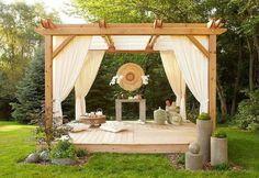 Und was wäre, wenn Sie ein Zimmer im Freien haben könnten? Hier gebe ich Ihnen Fotos mit attraktiven Gartenlauben.Sie können Ihre Pergola selber bauen...