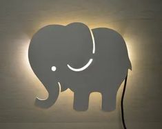 Check out our nursery wall decor selection for the very best in unique or custom, handmade pieces from our wall décor shops. Elephant Nursery Lamp, Childrens Bedside Lamp, Cloud Night Light, Kids Lamps, Wood Lamps, Nursery Wall Decor, Wooden Walls, Decoration, Wall Lights