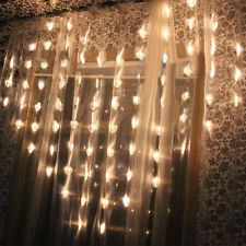 2M x1.6M 78LED Wedding Party Fairy Lights Heart Shaped Lights LED Curtain Lights Outdoor Christmas, Christmas Wedding, Led Curtain Lights, Ceiling Lights, Welcome Holidays, Festival Lights, Festival Wedding, Wedding Places, Fairy Lights