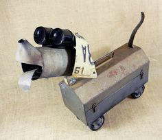 SALE 30 off  CHUCK  robot dog assemblage  by reclaim2fame on Etsy, $139.30
