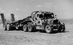 Camouflaged Scammel tank transporter Tunisia