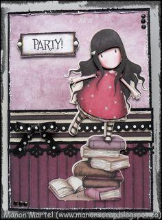 Carte fait avec mon kit DT avril/mai de la boutique Ah! de plus… Fairy Sketch, Marianne Design, Copics, Pretty Pictures, Nerdy, Diy And Crafts, Card Making, Card Holder, Cricut