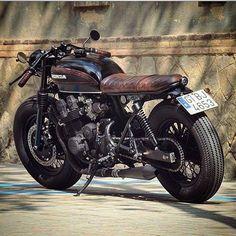 Honda #bike #wheels #leather #lifestyle