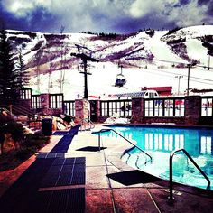 Take a break from the slopes and relax in the heated pool at Marriott's Mountainside. Marriott Vacation Club, Vacation Resorts, Snow Travel, Winter Vacations, Heated Pool, Take A Break, Park City, Summer Days, Relax