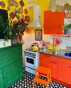 Quirky Kitchen, Bohemian Kitchen, Stylish Kitchen, Kitchen Decor, Estilo Kitsch, Interior Design Kitchen, Home Fashion, Hygge, Home Kitchens