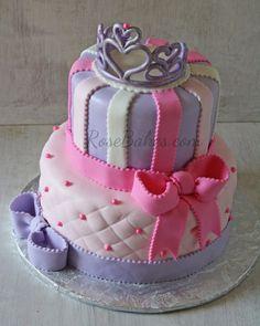 Pink & Purple Princess Bows Cake