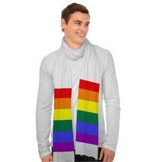 Gay pride rainbow flag design neck scarves from #Ricaso