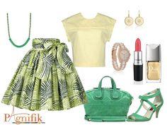 Idée de look – Jupe vert jaune Sika Designs   Pagnifik