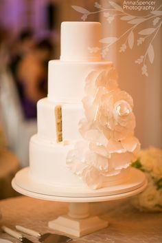 Anna and Spencer Photography , wedding cake , Georgian Terrace Hotel Wedding Atlanta .