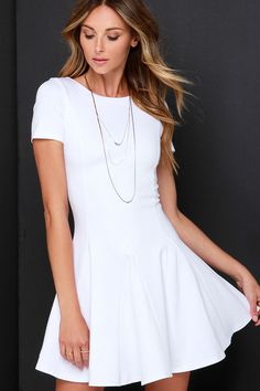 Endless Possibilities Ivory Skater Dress at Lulus.com!