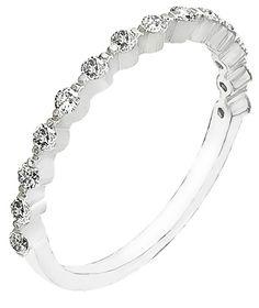 Diamond Ring, .35 Carat Diamonds on 14K White Gold