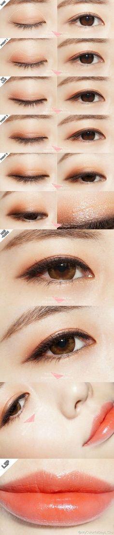 Asian makeup using color eye contact lenses #circlelens. SHOP from http://www.eyecandys.com
