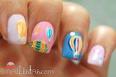Hot air balloon nail design