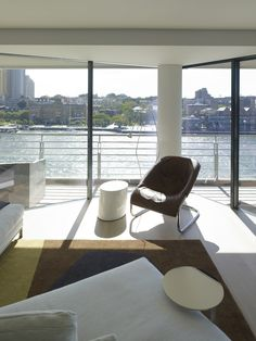 View to the harbour. Johnson Pilton Walker and Brooke Aitken Design.