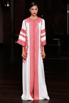 Usually not a big fan of caftans, but this is gorgeous. Naeem Khan.