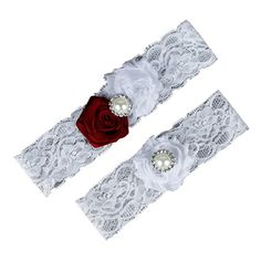 Dreamlan Womens Lace Garters Multi Colors with Crystal Burgundy White Dreamlan http://www.amazon.com/dp/B01AHZB5EM/ref=cm_sw_r_pi_dp_urM1wb0ZFNWP3