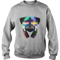 Music Lover Pug VII Tshirt Pets Anime Animals Order HERE