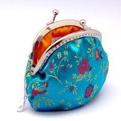 Chinese silk brocade coin purse