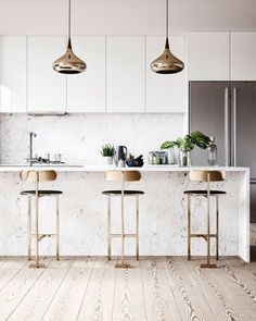 Do You Need Ideas For Mid-Century Modern Kitchen Style In Your Home? Condo Kitchen, Home Decor Kitchen, Kitchen Flooring, Kitchen Interior, Home Kitchens, Kitchen Remodel, Kitchen Ideas, Kitchen Cabinets, Kitchen Hacks