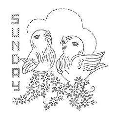 bird chores sunday embroidery