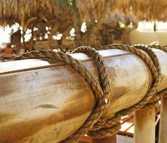 rope around metal rail