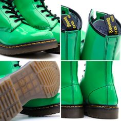 Yes, I own a pair of mint green patent leather doc martens. Go figure.