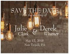 custom created save the dates and invites from vista print!