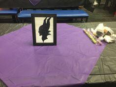Maleficent glitter silhouette