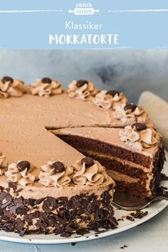 Mokkatorte – klassisch nach Oma's Rezept Cheesecake Recipes, Dessert Recipes, Vegan Cheesecake, Brownie Recipes, Holiday Baking Championship, Vegan Chocolate Mousse, Mocha Cake, Banana Brownies, Food Cakes