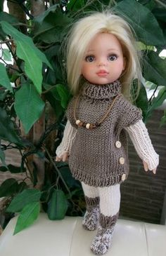 Discussion on LiveInternet - Russian Online Diary Service Knitting Dolls Clothes, Crochet Doll Clothes, Knitted Dolls, Girl Doll Clothes, Doll Clothes Patterns, Crochet Dolls, Girl Dolls, Doll Fancy Dress, Chunky Knitwear