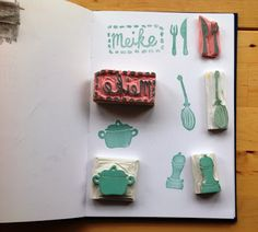 What's Cooking  Stamps Handmade by S a l u t S t e f a n i e