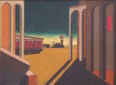 de Chirico Oil Painting Signed, Astratta Architettura, c. 1915-1920 (thumbnail 1)