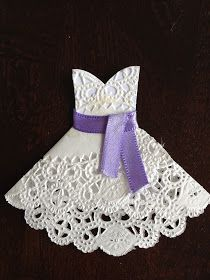 Quiet and Colorful: DIY Doily Wedding Dresses