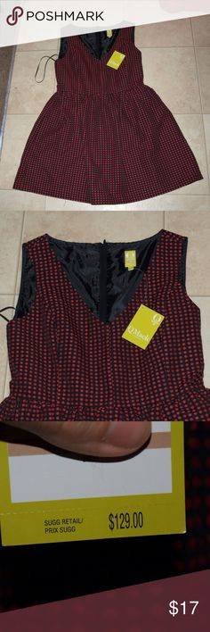 "$14 Macy's fit and flare red and black dress NWT!  ✔The price in the beginning of the title of my listings is the bundle price. These prices are valid through the ""make an offer"" feature after you create a bundle. These bundle orders must be over $15. Ask me about more details if interested.  ❌No trades ❌No holds macys Dresses"