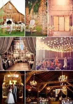 barn and lights