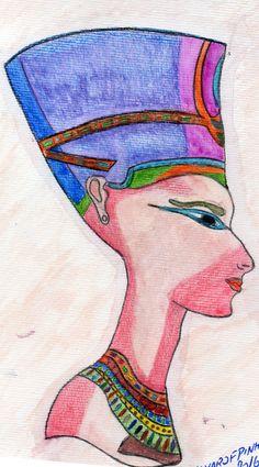 Trabalho em aquarela 2016 Cleopatra