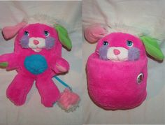 popples!! Mine was purple and my brother had a soccer ball one.