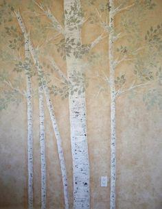 Plaster Stencil Aspen Tree   Walls Stencils, Plaster Stencils, Painting Stencils, Plaster Molds