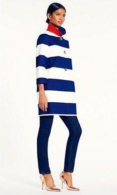 Kate Spade colorblock coat: Lucky Magazine