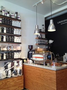 Laughing Man Coffe Shop - good use of small space