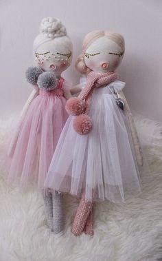 Heirloom doll/Interior doll/Cloth doll/Handmade doll/Fabric doll/Gift for girl/Girls room decor/Kids decor/Rag doll/Gift/Doll Doll Crafts, Sewing Crafts, Fairy Dolls, Soft Dolls, Cute Dolls, Plush Dolls, Gifts For Girls, Doll Patterns, Hand Crochet