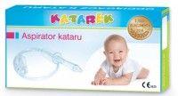 Odciągacz kataru KATAREK zawiera szczoteczkę - odsysa zalegającą wydzielinę z nosa u dzieci - ASPIRATORE PER TOGLIERE IL MUCO